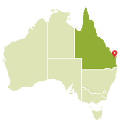 Sunshine Coast no Mapa