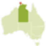 dawin australia no mapa