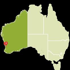 Perth no mapa