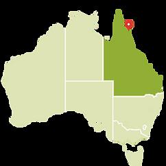 cairns australia no mapa