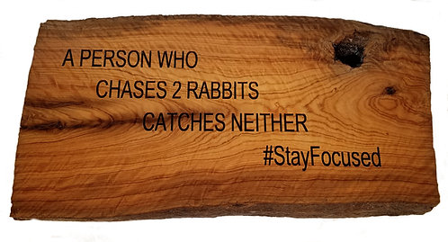 Stay focused plaque
