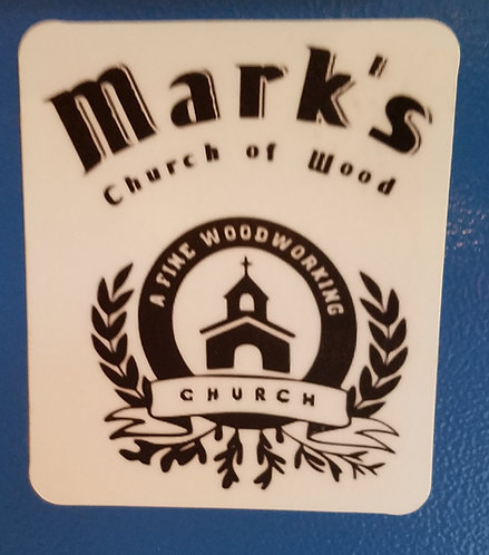 Church of Wood sticker