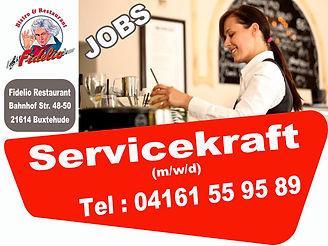 Fidelio Restaurant Buxtehude Servicekraft  Kellner Tresen In Teilzeit oder Aushilfe Jobs_N