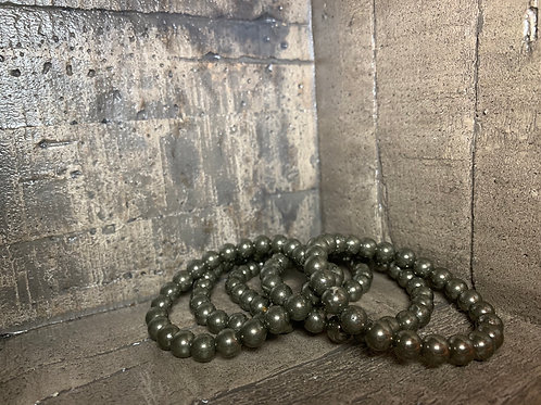 Pyrite 8mm Bracelet