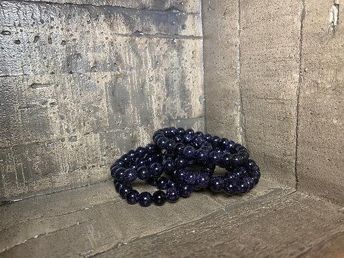 Blue Goldstone 10mm Bracelet