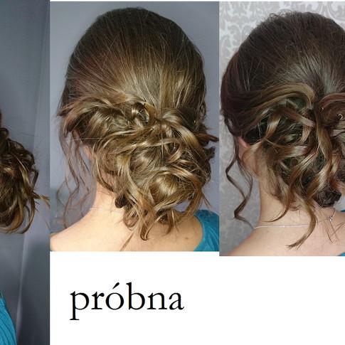 W dniu ślubu podcieniowałam nie które partie włosów by dostosować je do fryzury. Po umyciu włosy wkąponują się w resztę włosów.