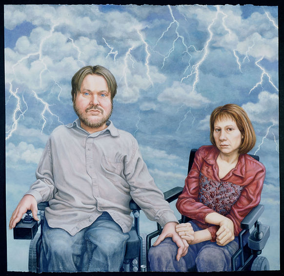 Painting of Mike Ervin & Anna Stonum