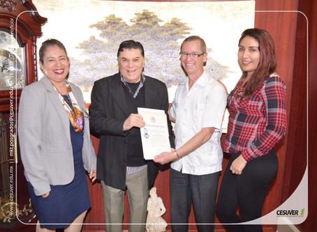 Firma de convenios 2019 de Univer de Veracruz AC con UCC y CONAIP