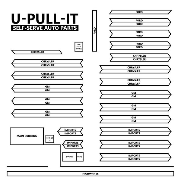 U-Pull-It Map - Black & White.jpg