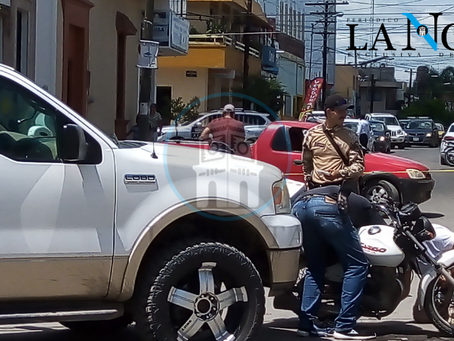 MOTOCICLISTA ES ARROLLADO EN AV. 20 DE NOVIEMBRE