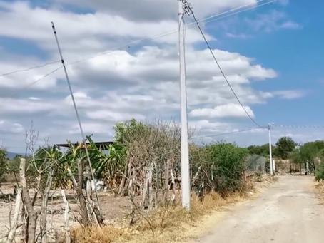 INAUGURACIÓN DE LA OBRA DE ELECTRIFICACIÓN EN LA CALLE JOB PÉREZ EN LA LOCALIDAD DE EL CABEZÓN