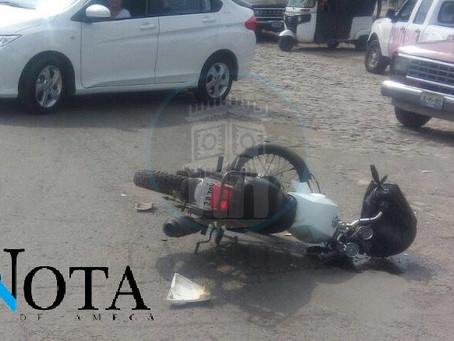JOVEN ACCIDENTADO EN PELIGROSO CRUCERO