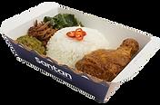 Nasi Padang Ayam Rendang