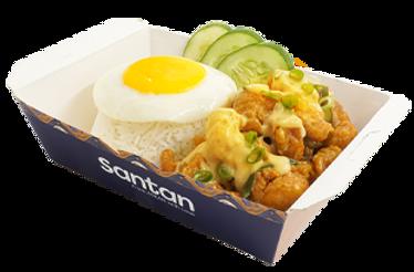Crispy Chicken Bites with Rice