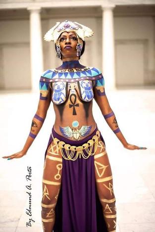 Egyptian Goddess, The art of Paint