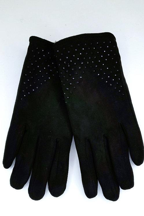 Gant strass noir