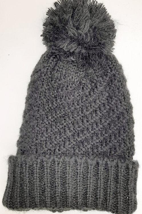 Bonnet tricot pompon