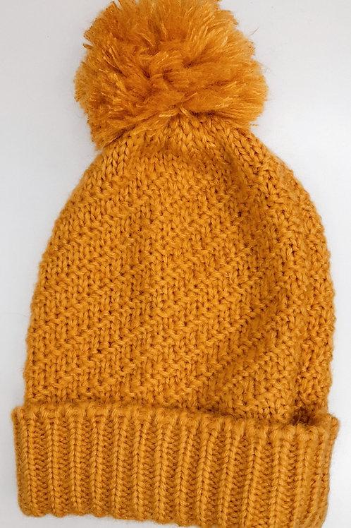 Bonnet tricot pompom