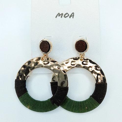 Boucle d'oreilles verte