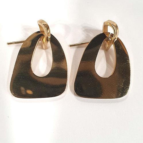 Boucles d'oreilles post petite forme d'or