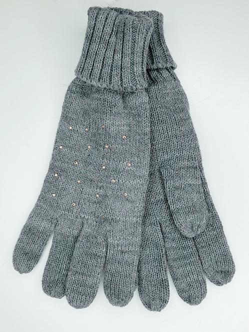 Gants gris laine