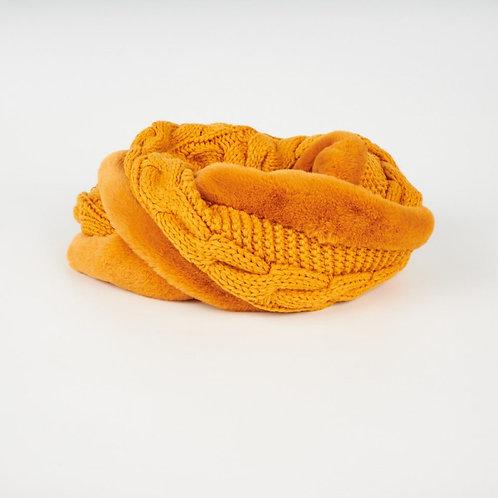 Snood tricot fourrure