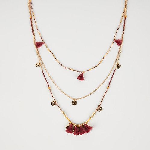 Collier avec mini perles multicolores