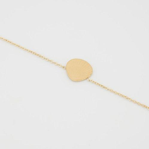 Bracelet fine chaine coquillage