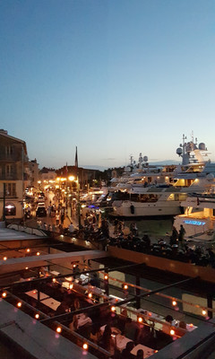 Sundowner, St Tropez, high season