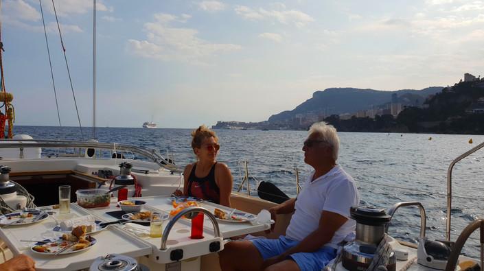 Lunch in Baie de Roquebrune