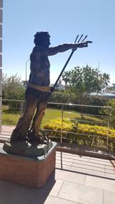 Statue of Poseidon, Port de Menton Garavan