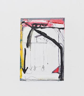 'Configuration on panel' Acrylic,pen,met