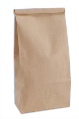 Kraft paper tin-tie bag