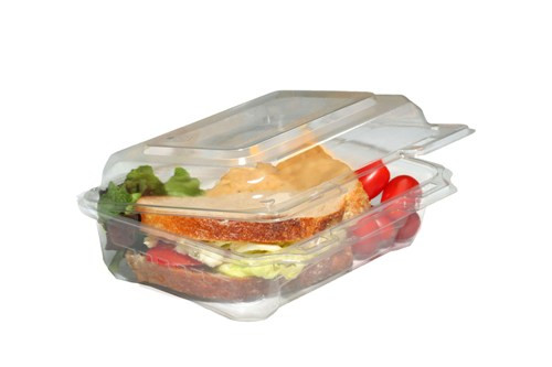 clear plastic box with lid for take out meal