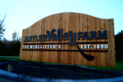 Antler Valley Farm - New Farm Sign