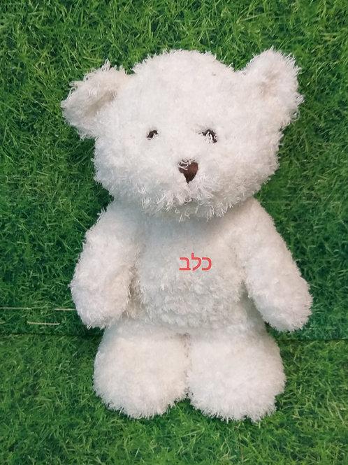 דובי עם חולצה שאפשר לרשום ברכה אישית