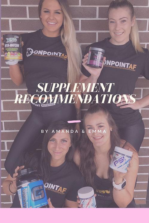 Supplement Recommendation Ebook