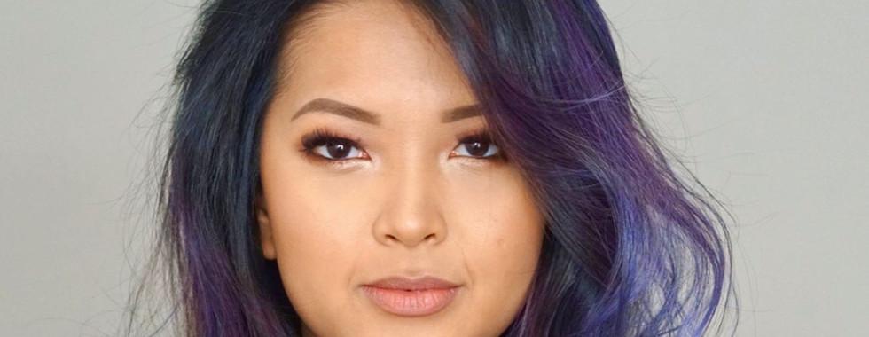 purlple glow makeup
