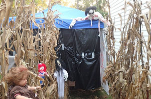 Haunted house in my garage and yard