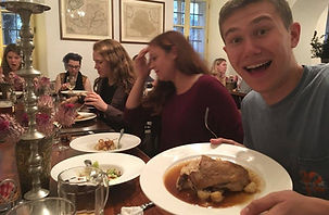Eating a delicious meal in the Czech Republic
