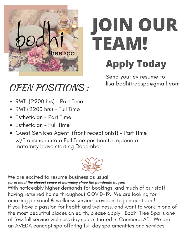 (WEBSITE)  Bodhi Tree Spa Canmore - Job Posting (1).png
