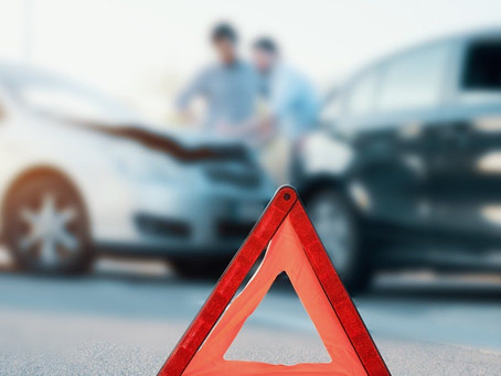 How many accidents happen on the practical driving test?