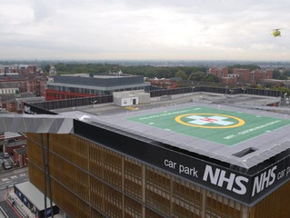 Work begins on £3.9m helipad for Manchester hospitals