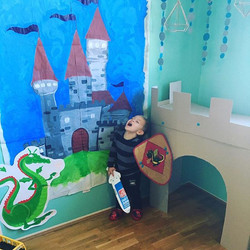 Turning out play room into a land of magic and castles knights and princesses 🛡🤴🏼#imagination #kn