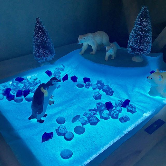 Arctic exploration with our light table 🐧❄️ #letsplay #arctic #arcticexplorer #arcticexploration #l