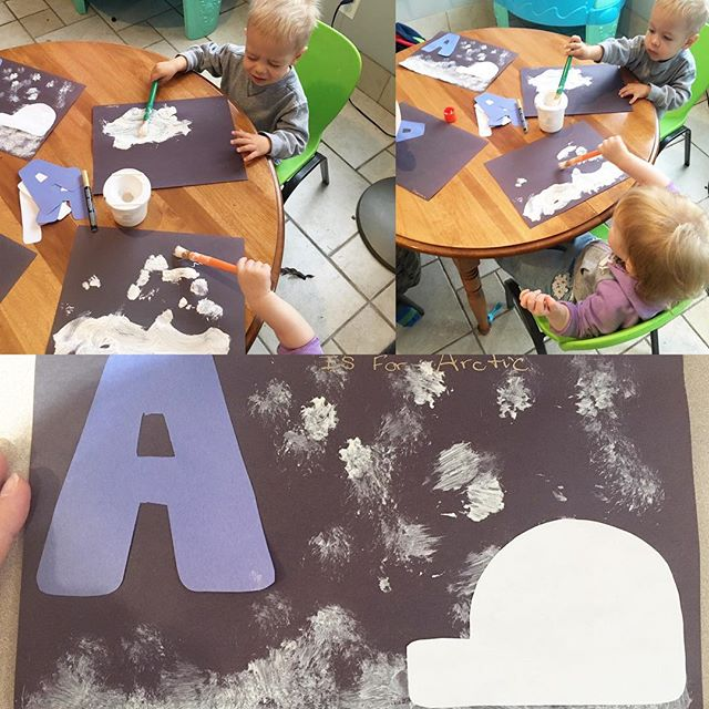A is for Arctic ❄️🐧 Seemed fitting for our weather today❄️ #snowday #arctic #alphabet #Aisfor #pres