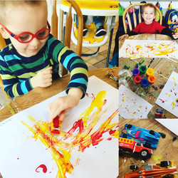 Painting with Trains