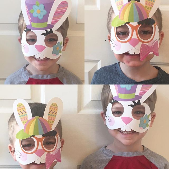 Happy Easter from a couple of bunny rabbits 🐰 _#easter #easterbunny #howcute #happyboys #preschool