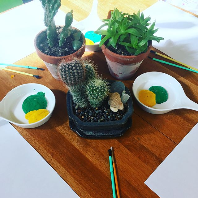 A little still life art class this morning _Subject_ 🌵 _#cactus #painting #creativeexpression #lets