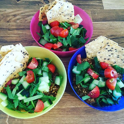 Turkey taco salad for lunch today _#🦃 #🌮 #yummy